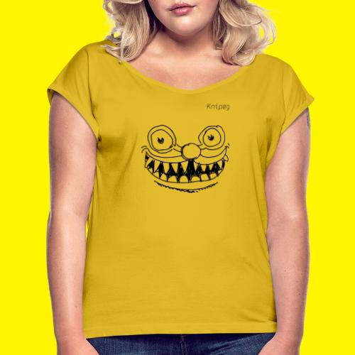 Scissorface - Vrouwen T-shirt met opgerolde mouwen