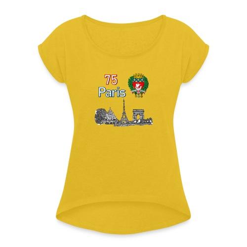 Paris france - T-shirt à manches retroussées Femme