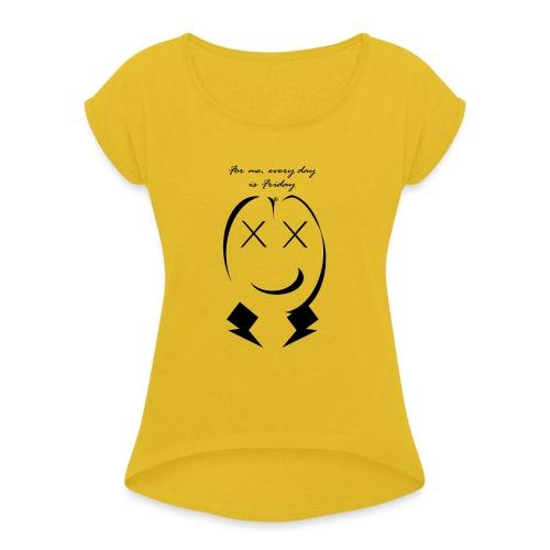 friday - Maglietta da donna con risvolti