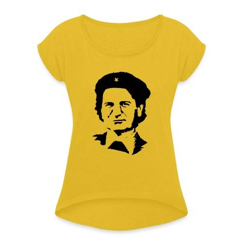 COSMY CHE - Maglietta da donna con risvolti