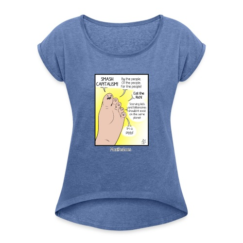 Manifestoes - Women's T-Shirt with rolled up sleeves