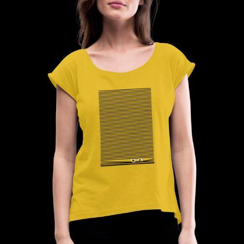 icu - Frauen T-Shirt mit gerollten Ärmeln