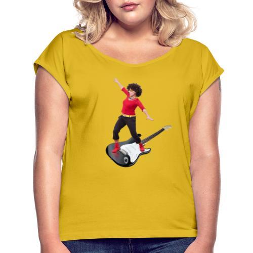 surfende KESS - Frauen T-Shirt mit gerollten Ärmeln
