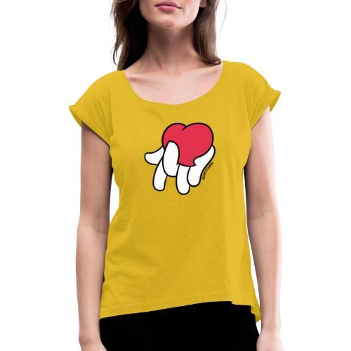 HAK❤️ - T-shirt à manches retroussées Femme