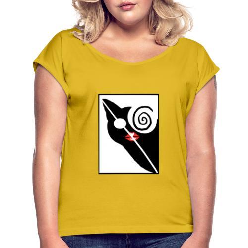 Kringel - Frauen T-Shirt mit gerollten Ärmeln