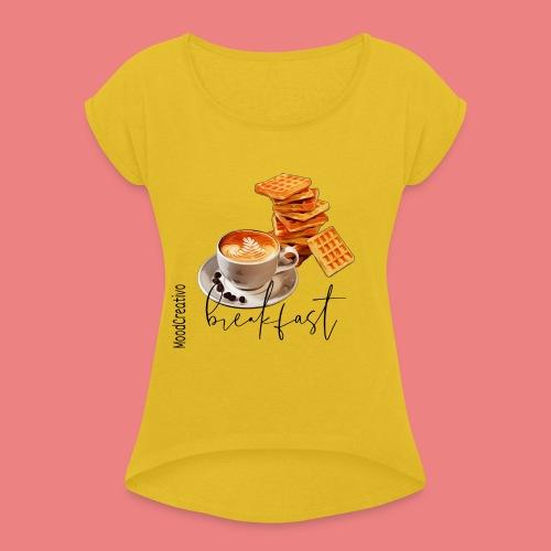moodcreativo44 - Maglietta da donna con risvolti