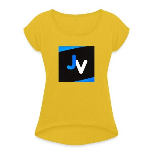 61348294 2351325455141717 3252106093584711680 n - Vrouwen T-shirt met opgerolde mouwen
