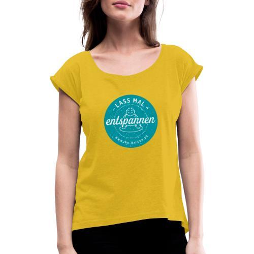 JRK Logo Lass mal entspannen - Frauen T-Shirt mit gerollten Ärmeln