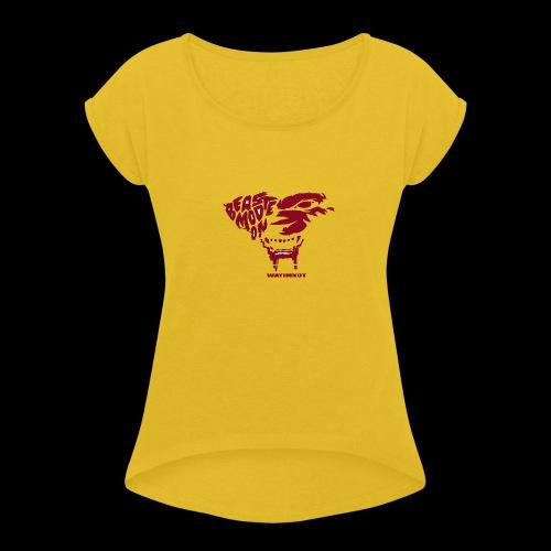 beastmode - Frauen T-Shirt mit gerollten Ärmeln