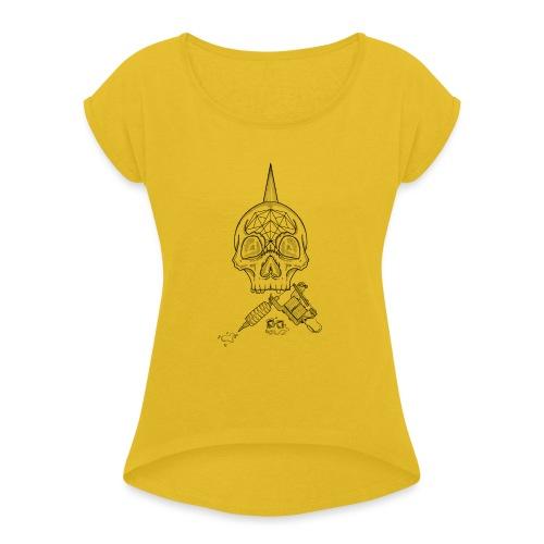 Skull tattoo - T-shirt à manches retroussées Femme