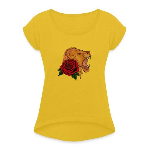 Lion - T-shirt à manches retroussées Femme