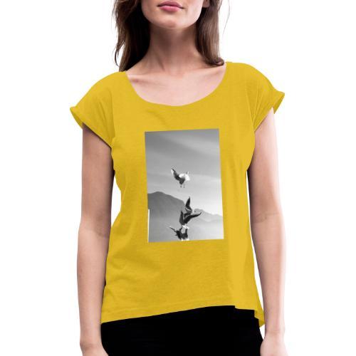 DPP 0008 - Frauen T-Shirt mit gerollten Ärmeln