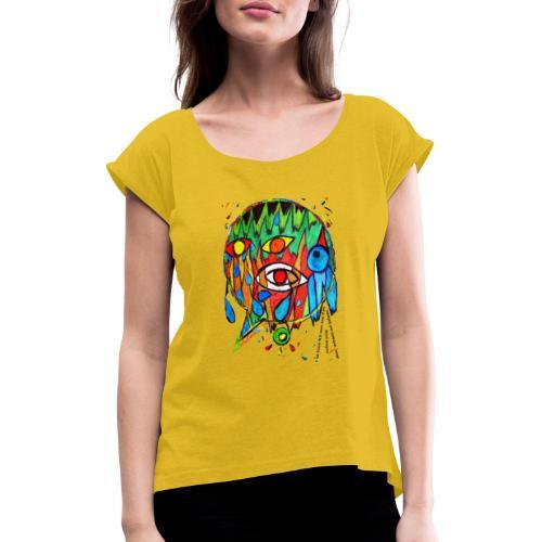 Vertrauen - Frauen T-Shirt mit gerollten Ärmeln