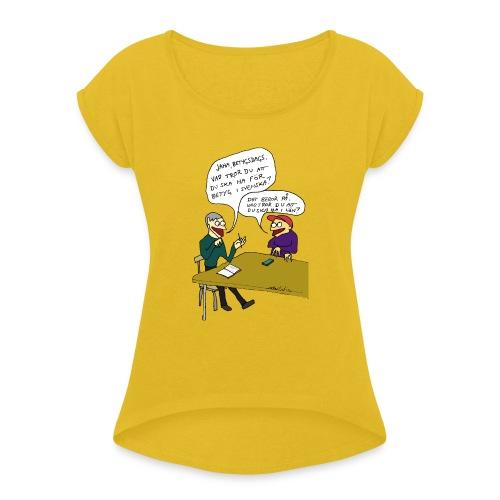 betygsdags - T-shirt med upprullade ärmar dam