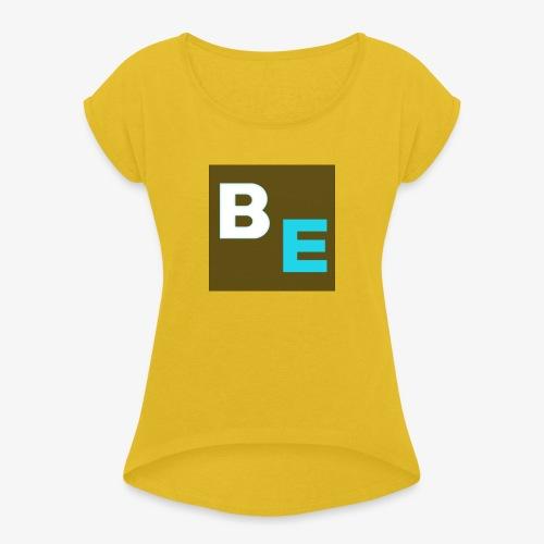 LOGO KURZ NEW1 - Frauen T-Shirt mit gerollten Ärmeln