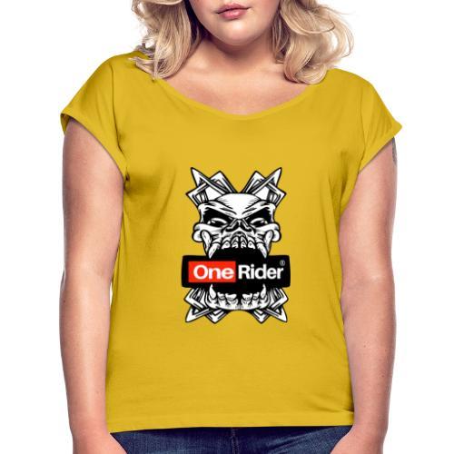 Calabera dientes - Camiseta con manga enrollada mujer