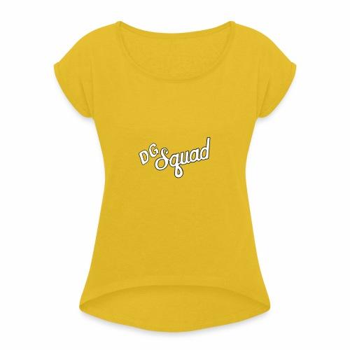 Dutchgamerz DG squad logo - Vrouwen T-shirt met opgerolde mouwen