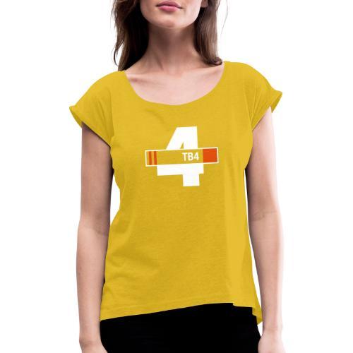 Thunderbird 4 design - Women's T-Shirt with rolled up sleeves