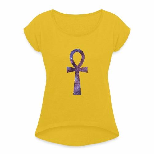 ankh galaxie - T-shirt à manches retroussées Femme