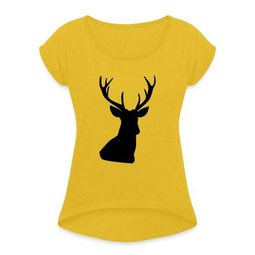 Free-WILD - Frauen T-Shirt mit gerollten Ärmeln