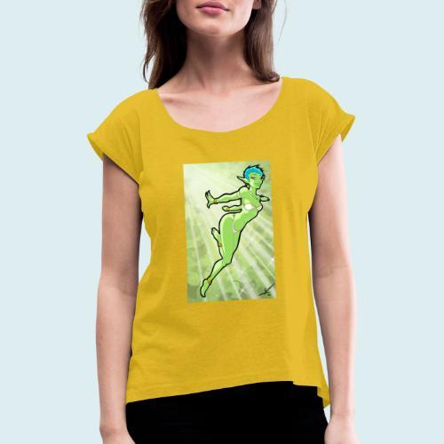 Pixie - Maglietta da donna con risvolti