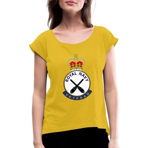 RN Vet GUNNER - Women's T-Shirt with rolled up sleeves