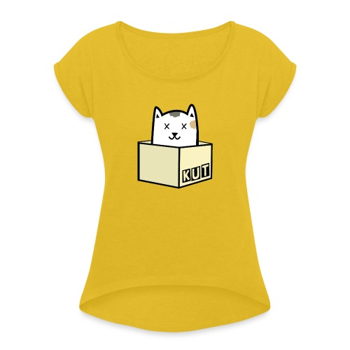 Kitten Los Default Colours - Vrouwen T-shirt met opgerolde mouwen