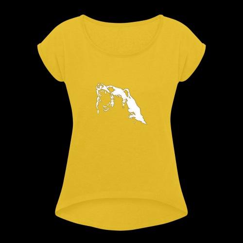 Sin ti tulo 2 - Camiseta con manga enrollada mujer