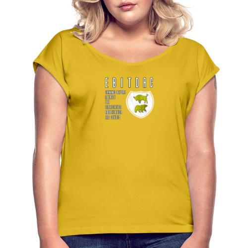 EBITDAC - Vintage - T-shirt med upprullade ärmar dam