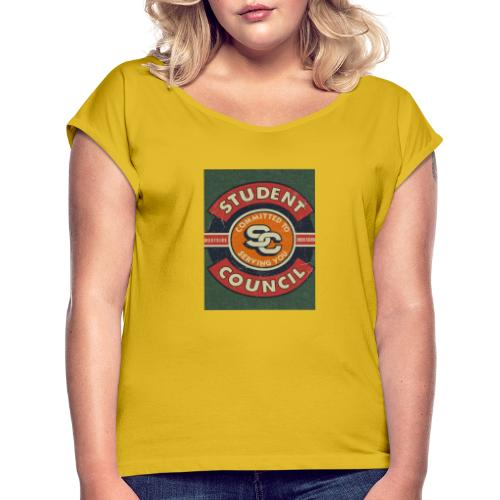Student - Frauen T-Shirt mit gerollten Ärmeln