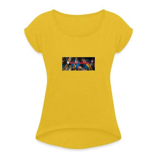 Gzuar baftijar - Frauen T-Shirt mit gerollten Ärmeln