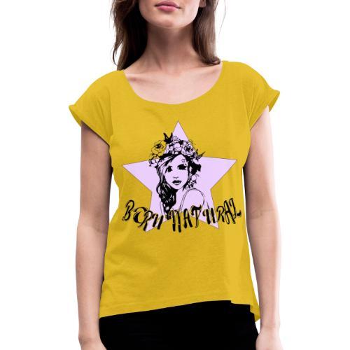 BPRN NATURAL - Maglietta da donna con risvolti