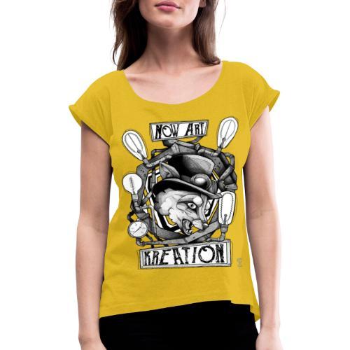 N.A.K 2020 designed by SILVER FOX - T-shirt à manches retroussées Femme