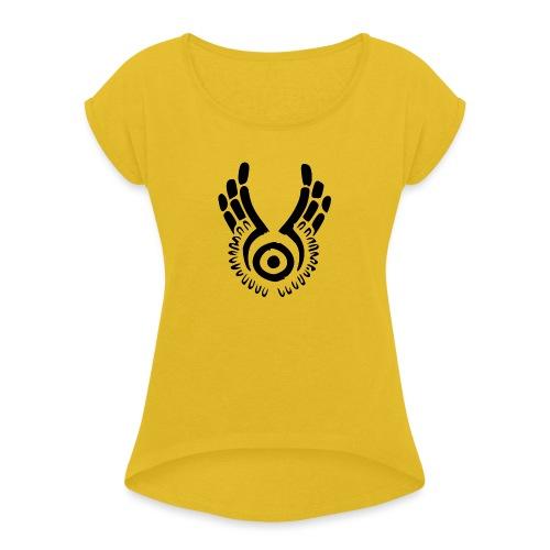 Ohjaajaoppilas - Naisten T-paita, jossa rullatut hihat