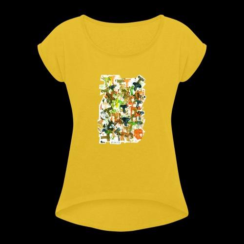 Autumn T BY TAiTO - Naisten T-paita, jossa rullatut hihat