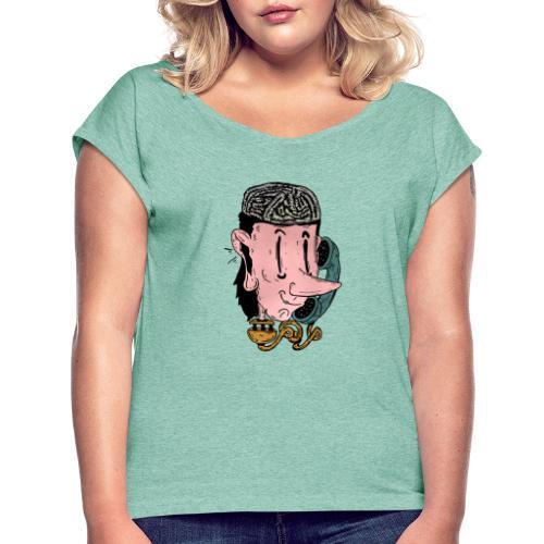 parlare al telefono - Maglietta da donna con risvolti