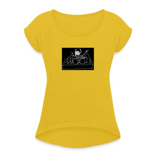 Drummer - Women's T-Shirt with rolled up sleeves