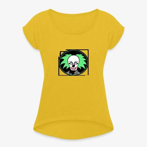 payaso 3001 - Naisten T-paita, jossa rullatut hihat