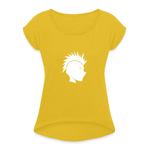 Cally Mohawk Logo - Women's T-Shirt with rolled up sleeves