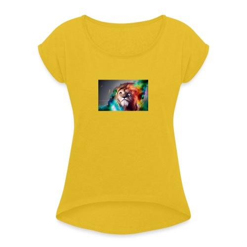 hero lion - T-shirt à manches retroussées Femme