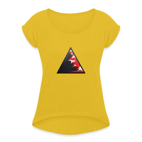 Climb high as a mountains to achieve high - Women's T-Shirt with rolled up sleeves