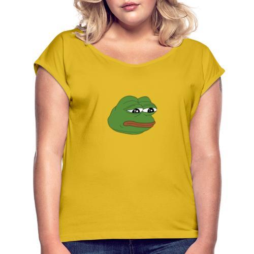 Pepe - T-shirt med upprullade ärmar dam