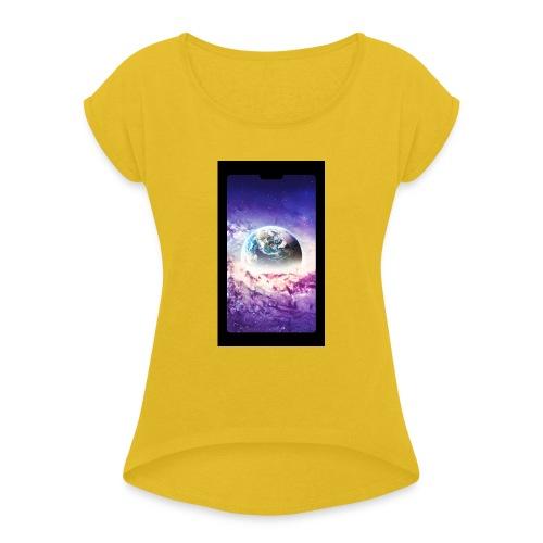 Univers - T-shirt à manches retroussées Femme