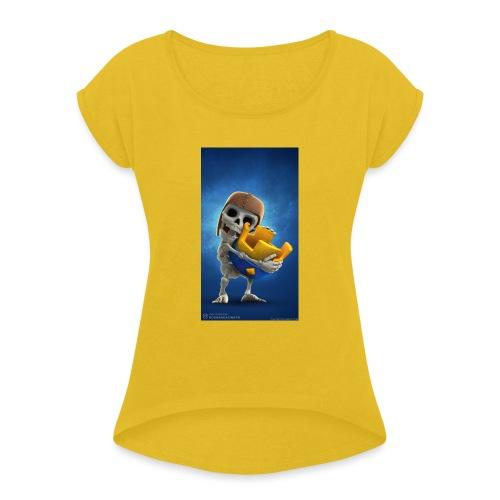 TheClashGamer t-shirt - Frauen T-Shirt mit gerollten Ärmeln