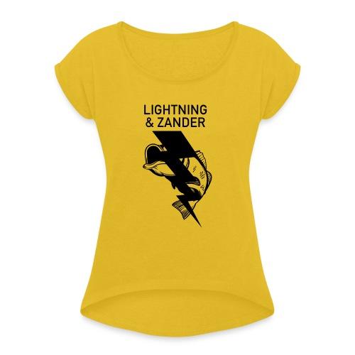 Lightning & Zander - Frauen T-Shirt mit gerollten Ärmeln