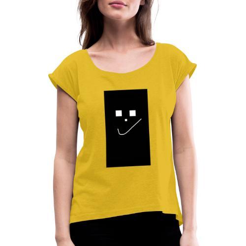 Smile :) - Frauen T-Shirt mit gerollten Ärmeln