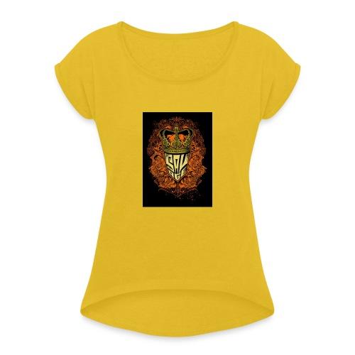 20200614 194751 - Frauen T-Shirt mit gerollten Ärmeln