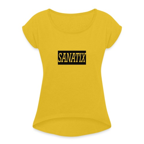 SanatixShirtLogo - Women's T-Shirt with rolled up sleeves
