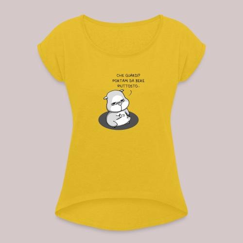 drunk_Hamster - Maglietta da donna con risvolti