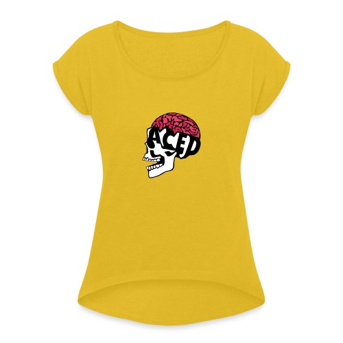 ACED clan - Women's T-Shirt with rolled up sleeves
